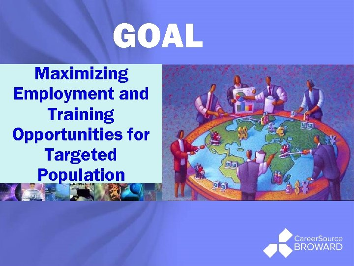 GOAL Maximizing Employment and Training Opportunities for Targeted Population ®