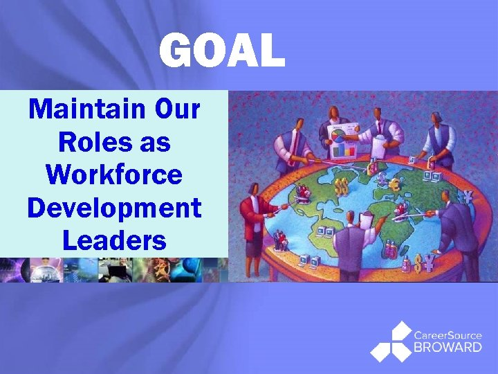 GOAL Maintain Our Roles as Workforce Development Leaders ®