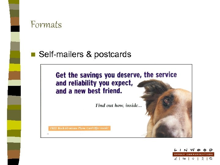 Formats n Self-mailers & postcards