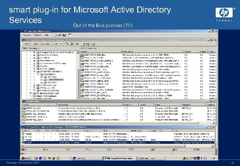 smart plug-in for Microsoft Active Directory Services Out of the Box policies (70) Thursday,