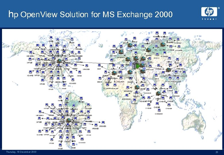 hp Open. View Solution for MS Exchange 2000 Thursday, 18 December 2003 26