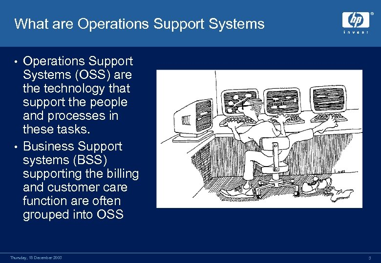 What are Operations Support Systems (OSS) are the technology that support the people and