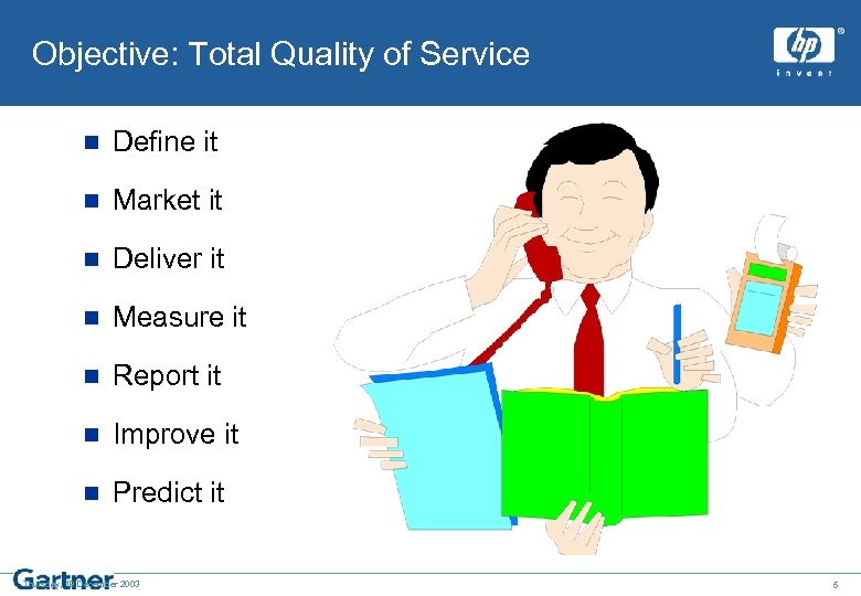 Objective: Total Quality of Service n Define it n Market it n Deliver it