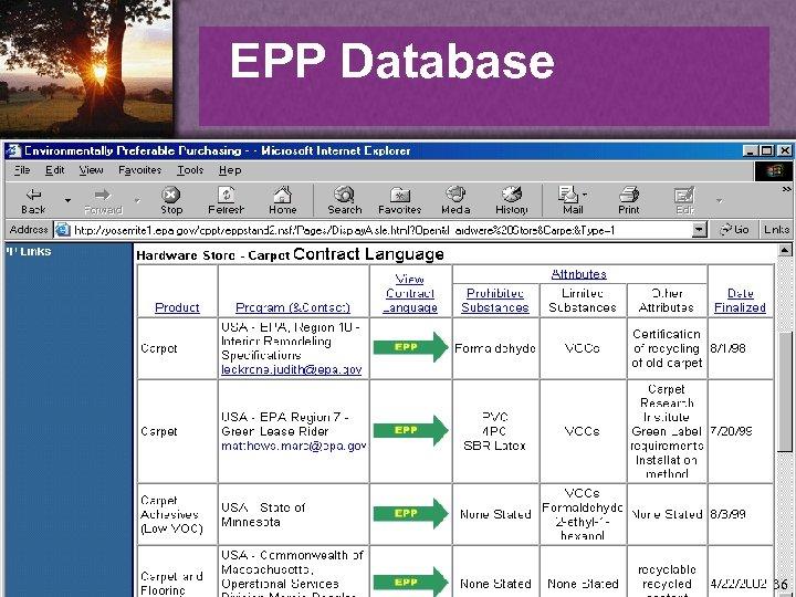 EPP Database 36