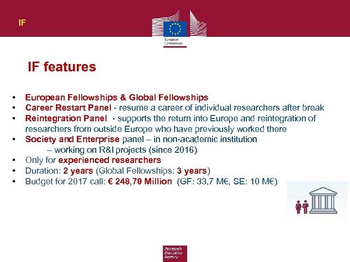 IF IF features • • European Fellowships & Global Fellowships Career Restart Panel -