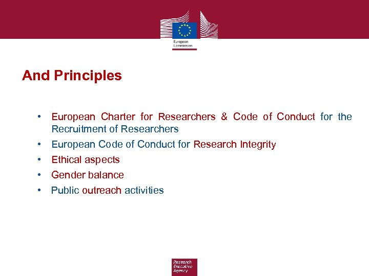 And Principles • European Charter for Researchers & Code of Conduct for the Recruitment