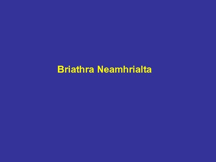 Briathra Neamhrialta