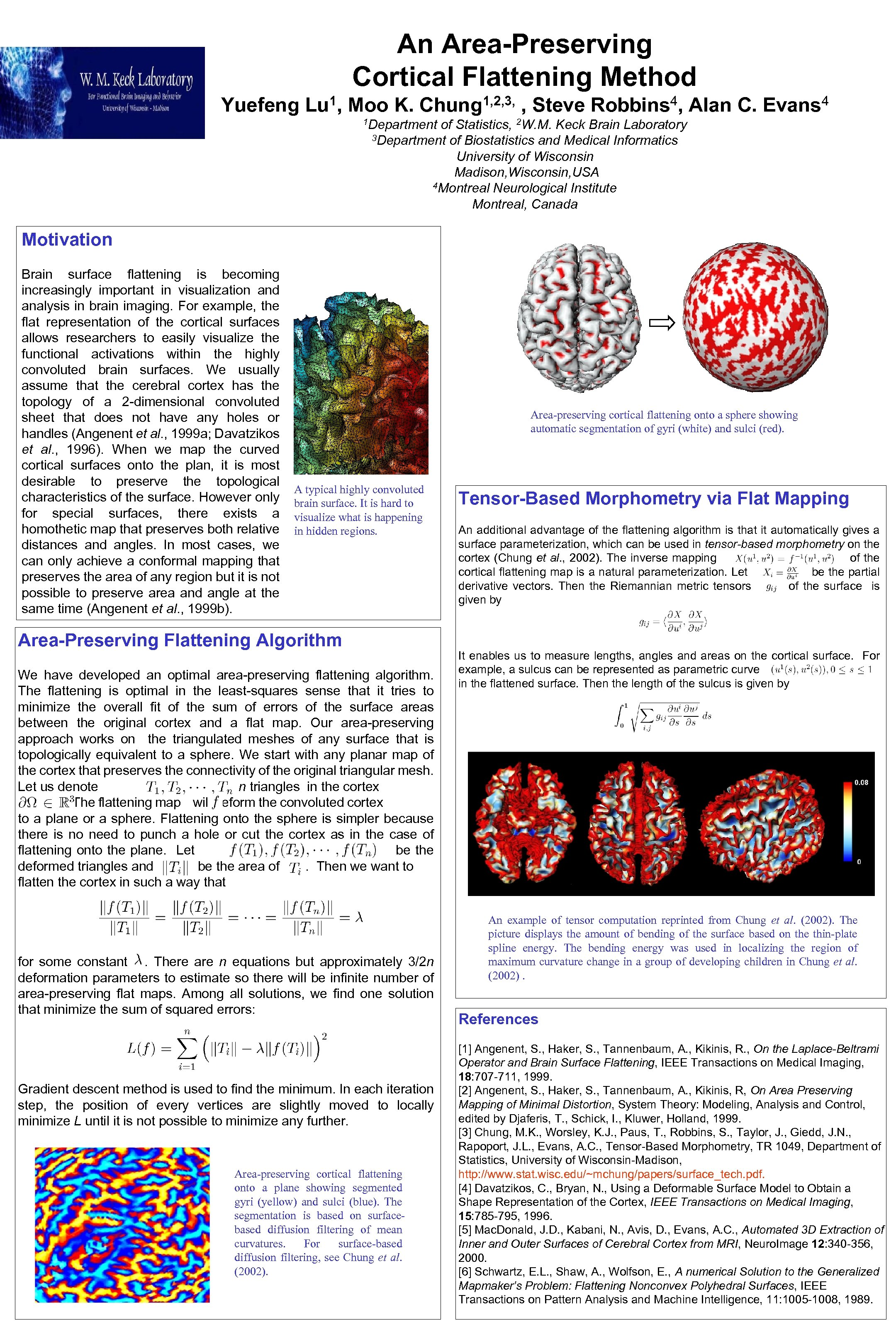 An Area-Preserving Cortical Flattening Method Yuefeng 1, Lu Moo K. 1, 2, 3, Chung