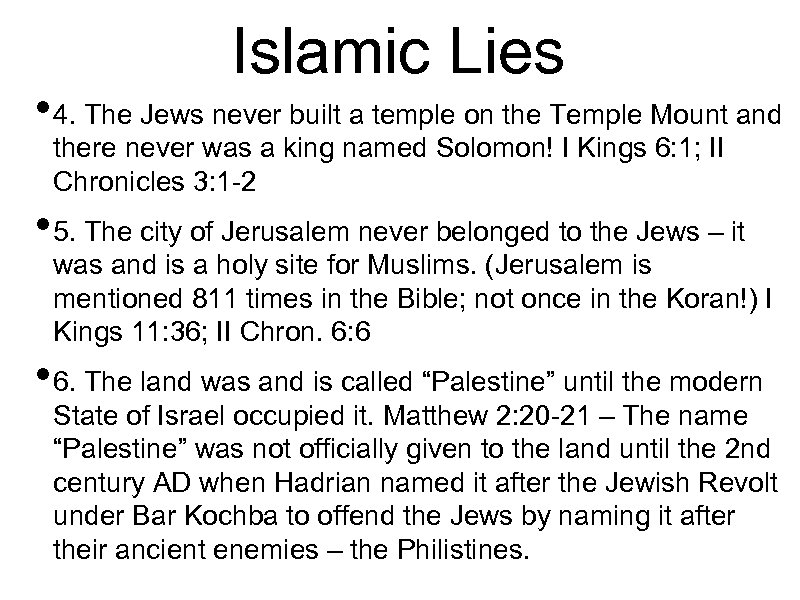 Islamic Lies • 4. The Jews never built a temple on the Temple Mount