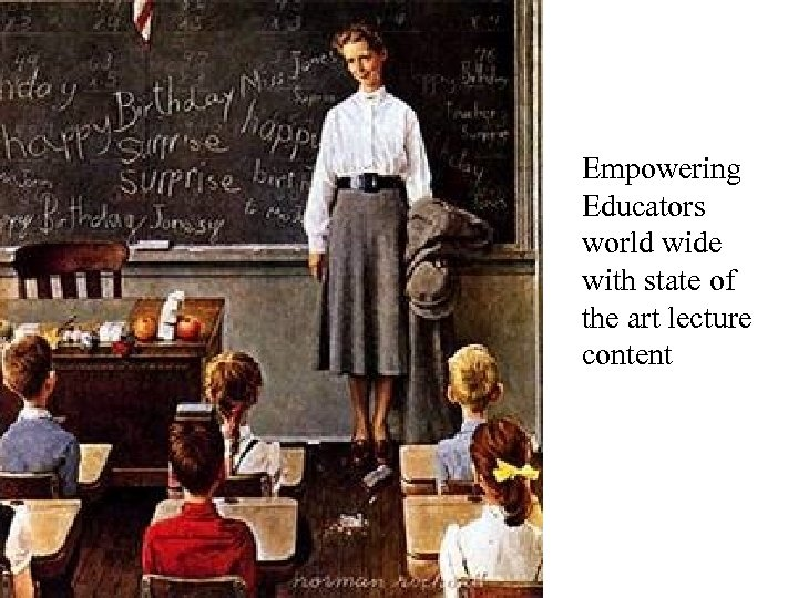 Empowering Educators world wide with state of the art lecture content