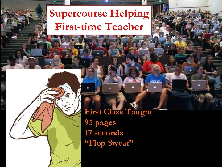 "Supercourse Helping First-time Teacher First Class Taught 95 pages 17 seconds ""Flop Sweat"""