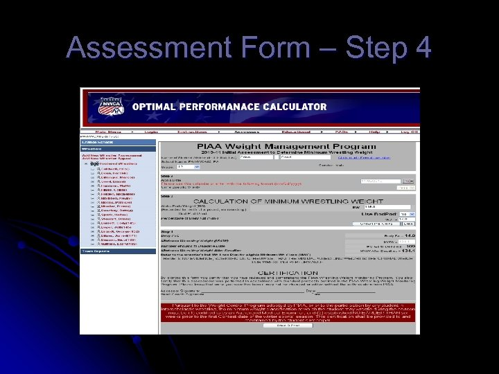 Assessment Form – Step 4