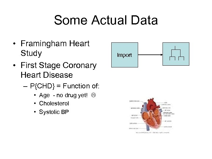 Some Actual Data • Framingham Heart Study • First Stage Coronary Heart Disease –
