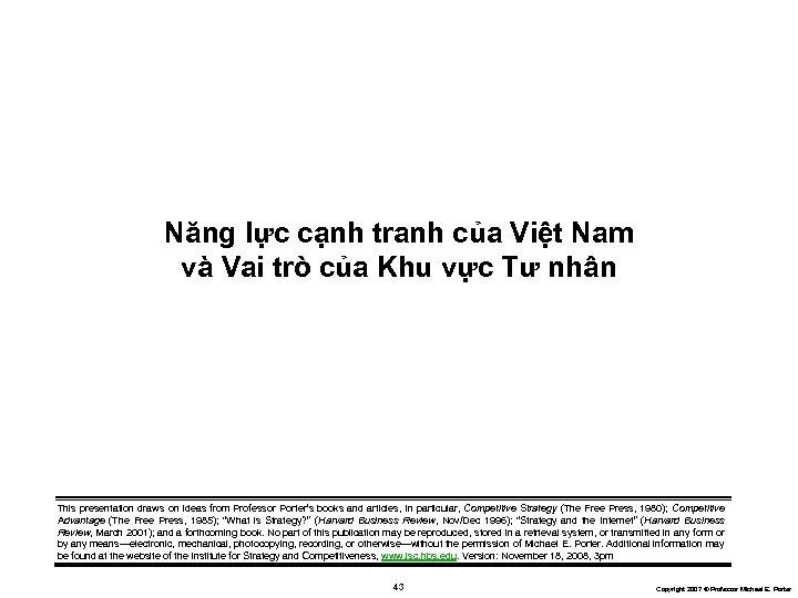 Năng lực cạnh tranh của Việt Nam và Vai trò của Khu vực Tư