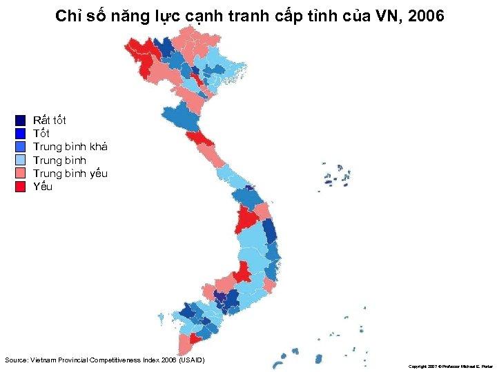 Chỉ số năng lực cạnh tranh cấp tỉnh của VN, 2006 Rất tốt Trung