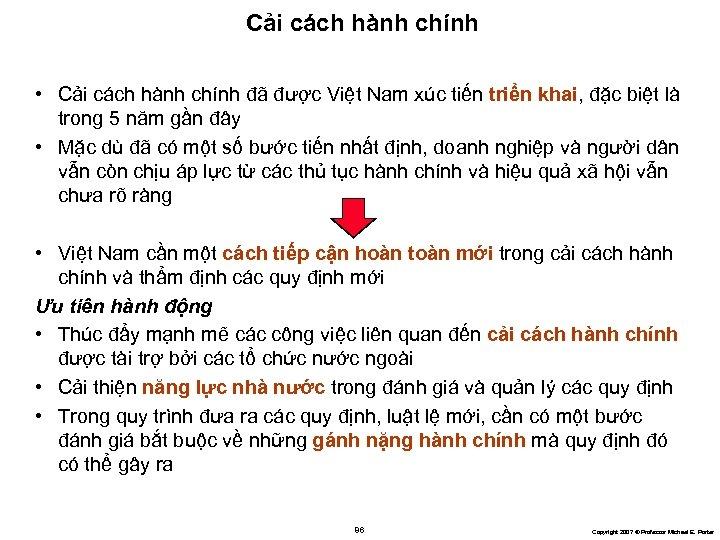 Cải cách hành chính • Cải cách hành chính đã được Việt Nam xúc