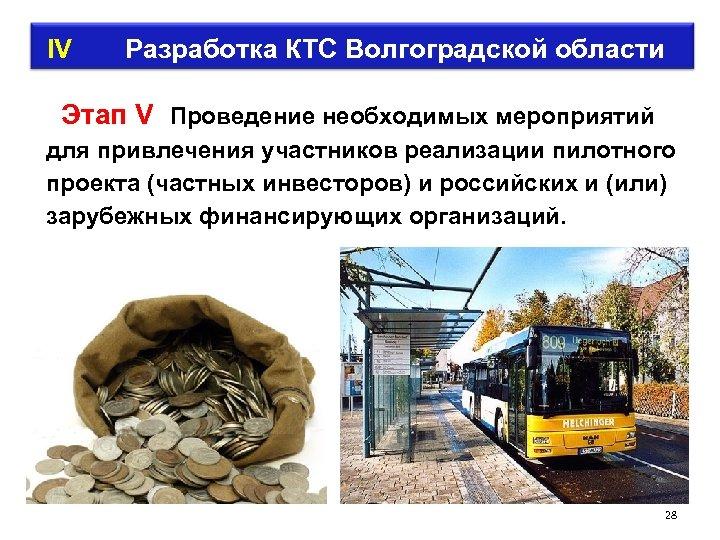 IV Разработка КТС Волгоградской области Этап V Проведение необходимых мероприятий для привлечения участников