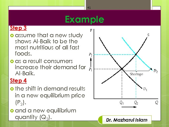 41 Example Step 3 assume that a new study shows Al-Baik to be the