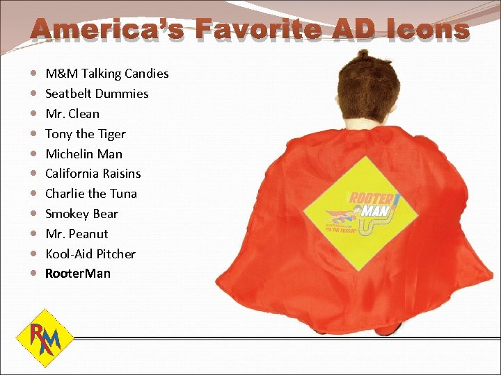 America's Favorite AD Icons M&M Talking Candies Seatbelt Dummies Mr. Clean Tony the Tiger