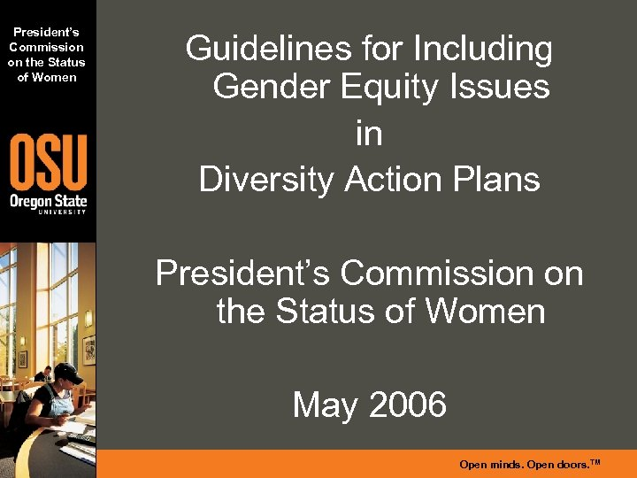 President's Commission on the Status of Women Guidelines for Including Gender Equity Issues in
