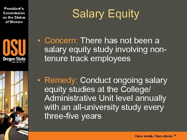 President's Commission on the Status of Women Salary Equity • Concern: There has not