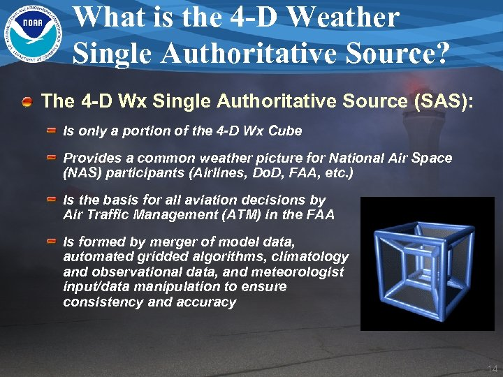 What is the 4 -D Weather Single Authoritative Source? The 4 -D Wx Single
