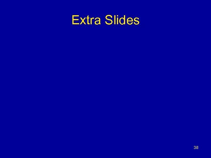 Extra Slides 38