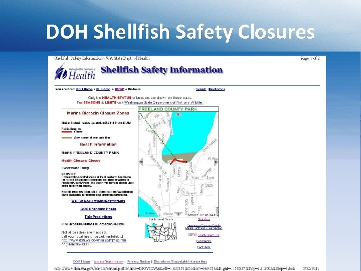 DOH Shellfish Safety Closures