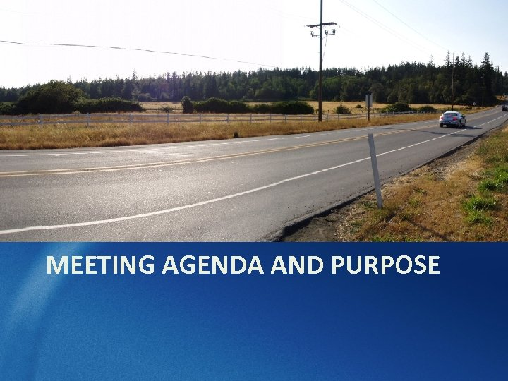 MEETING AGENDA AND PURPOSE