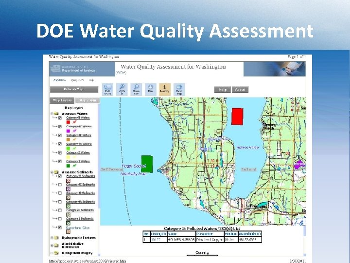 DOE Water Quality Assessment