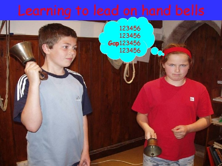 Learning to lead on hand bells 123456 Gap 123456