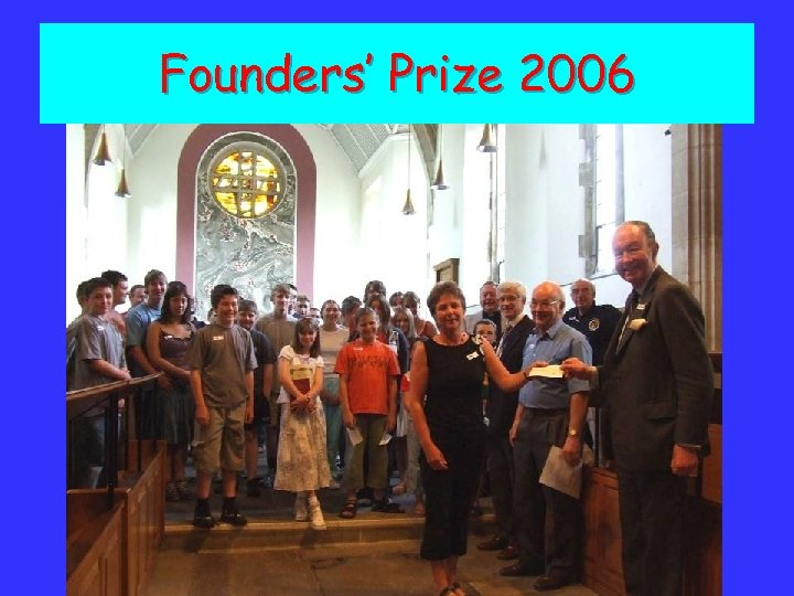 Founders' Prize 2006
