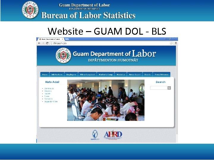 Website – GUAM DOL - BLS