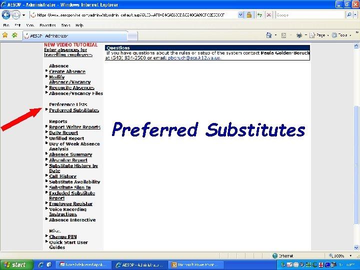 Preferred Substitutes