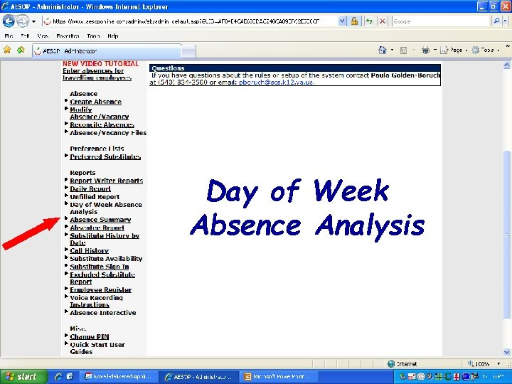 Day of Week Absence Analysis