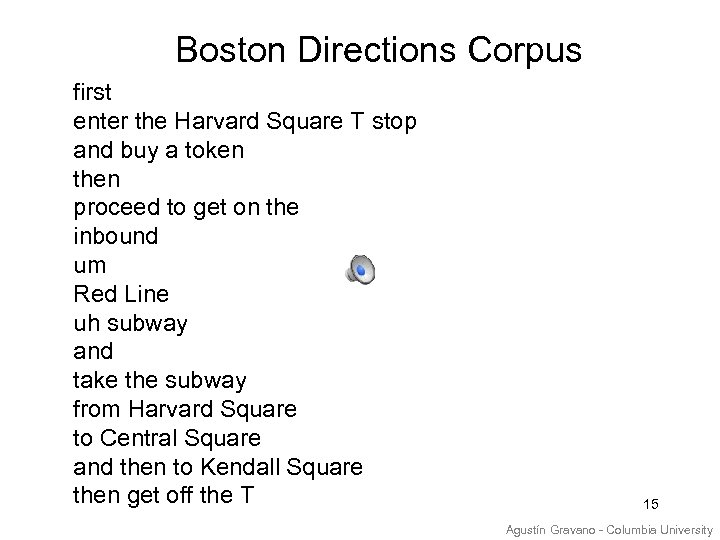 Boston Directions Corpus first enter the Harvard Square T stop and buy a token