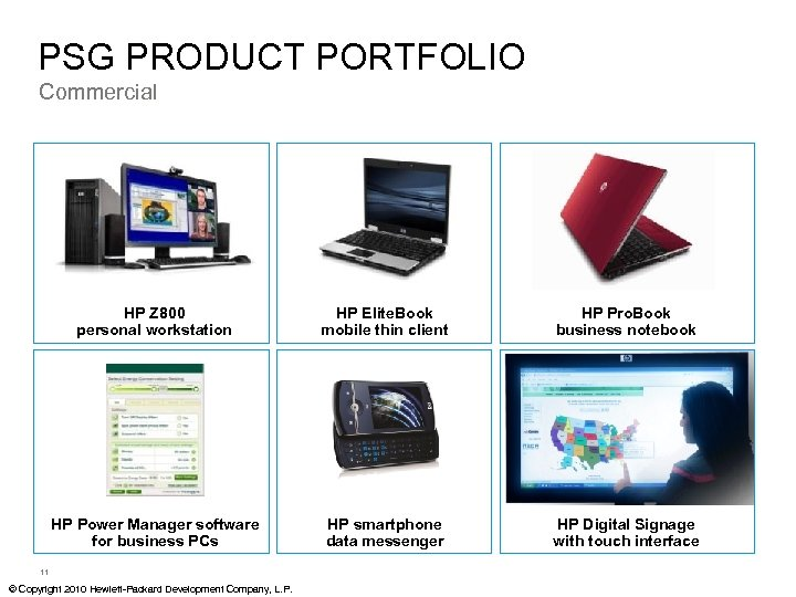 PSG PRODUCT PORTFOLIO Commercial HP Z 800 personal workstation HP Elite. Book mobile thin