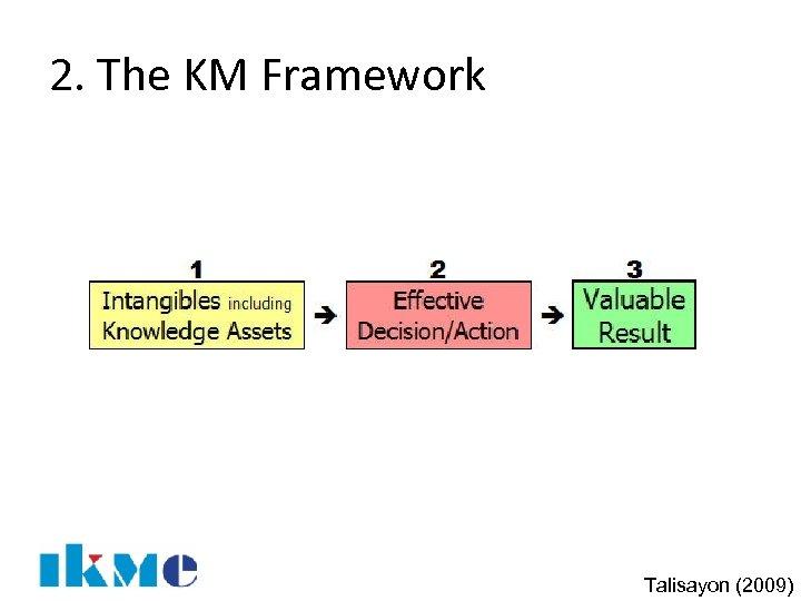 2. The KM Framework Talisayon (2009)