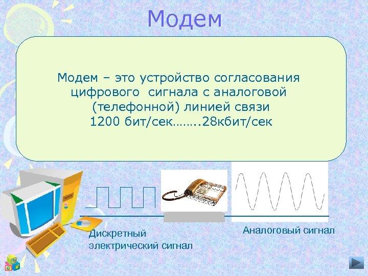 Модем Акустический канал линии модем разделяет на две полосы низкой и высокой частоты. Модем