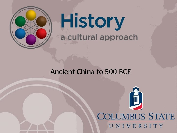 Ancient China to 500 BCE