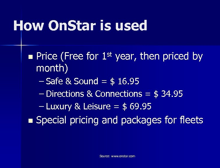 How On. Star is used n Price (Free for 1 st year, then priced