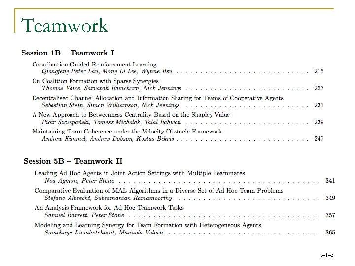 Teamwork 9 -146