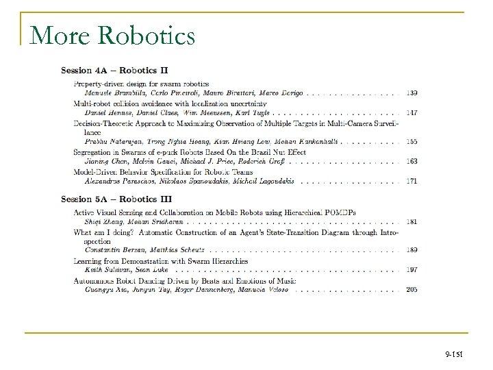 More Robotics 9 -151