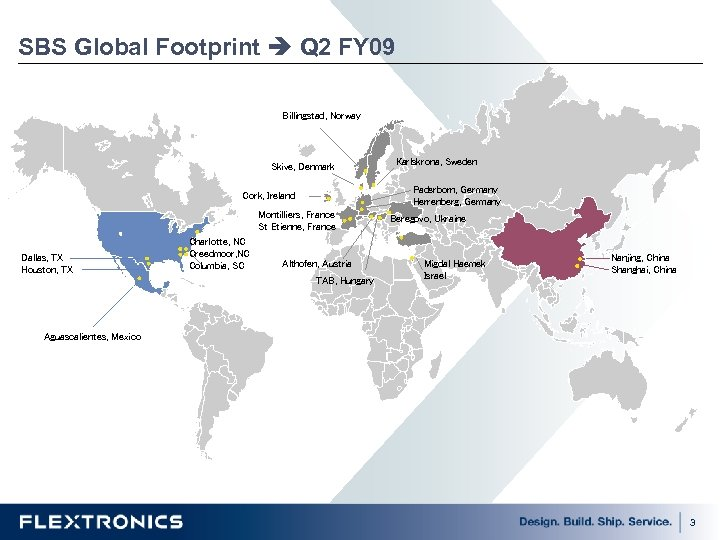 SBS Global Footprint Q 2 FY 09 Billingstad, Norway Skive, Denmark Paderborn, Germany Herrenberg,