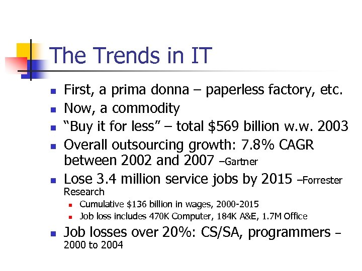 The Trends in IT n n n First, a prima donna – paperless factory,