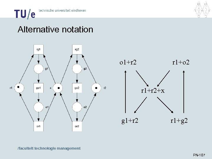 Alternative notation o 1+r 2 r 1+o 2 r 1+r 2+x g 1+r 2