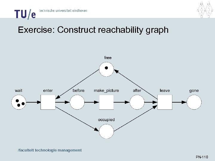 Exercise: Construct reachability graph /faculteit technologie management PN-110