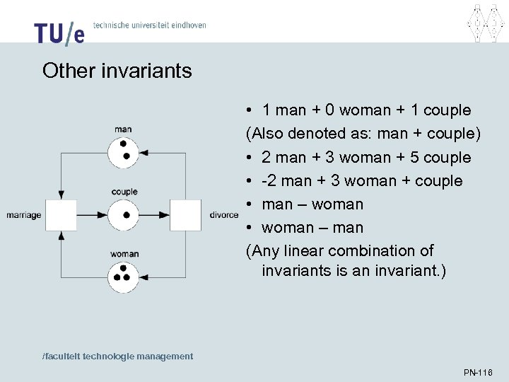 Other invariants • 1 man + 0 woman + 1 couple (Also denoted as: