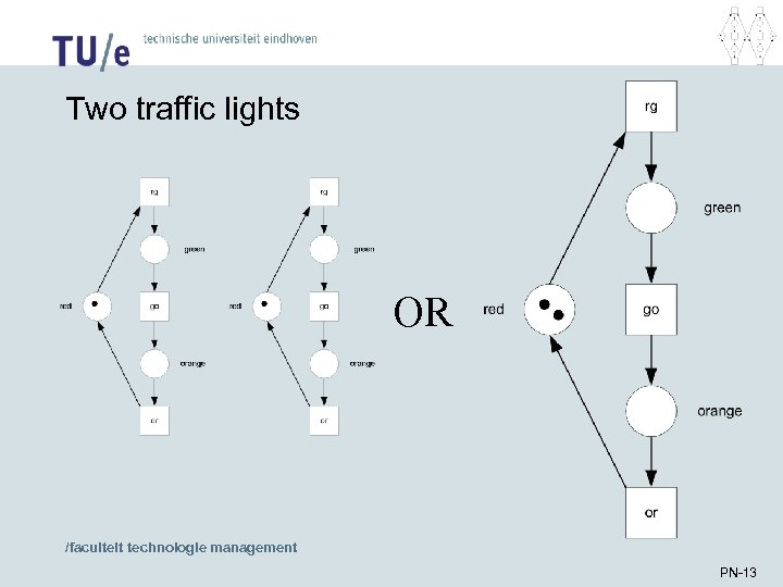 Two traffic lights OR /faculteit technologie management PN-13
