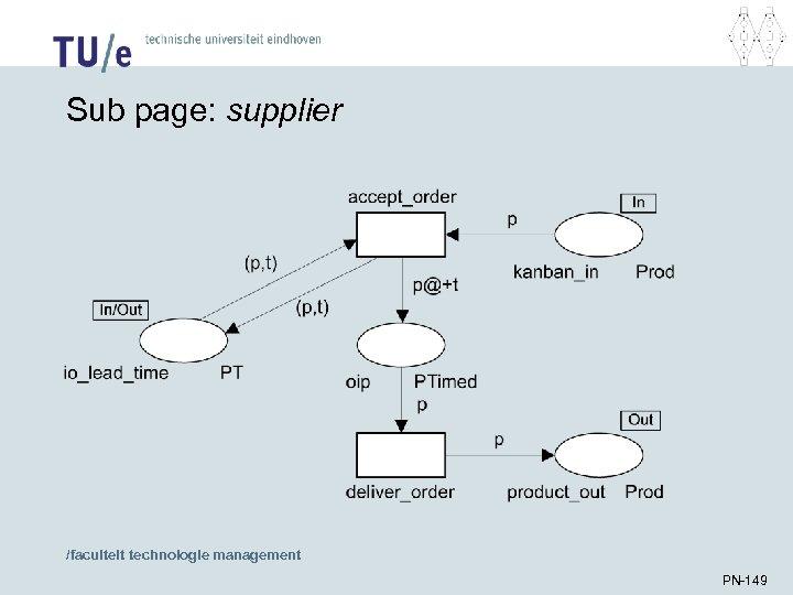 Sub page: supplier /faculteit technologie management PN-149